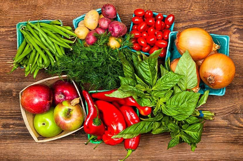 La consommation d'une large gamme de fruits et légumes contribuera à renforcer les effets du PhenQ