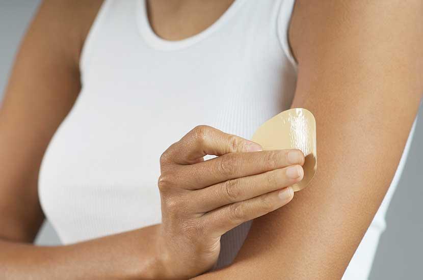 Toujours placer le patch Sliminazer sur une peau saine