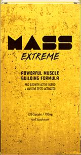 Mass Extreme est un supplément visant à améliorer le gain musculaire